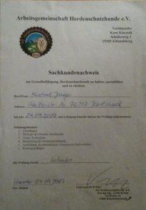 Sachkundenachweis - Krügers Zuchtbetrieb